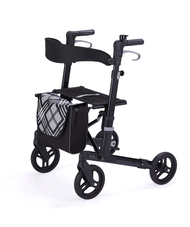 Rollator With Double Folding & Seat Height Adjustable